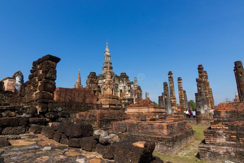 Sukhothai es un centro hist?rico, y la primera capital de Siam Thought a ser el origen del arte y de la cultura tailandeses foto de archivo
