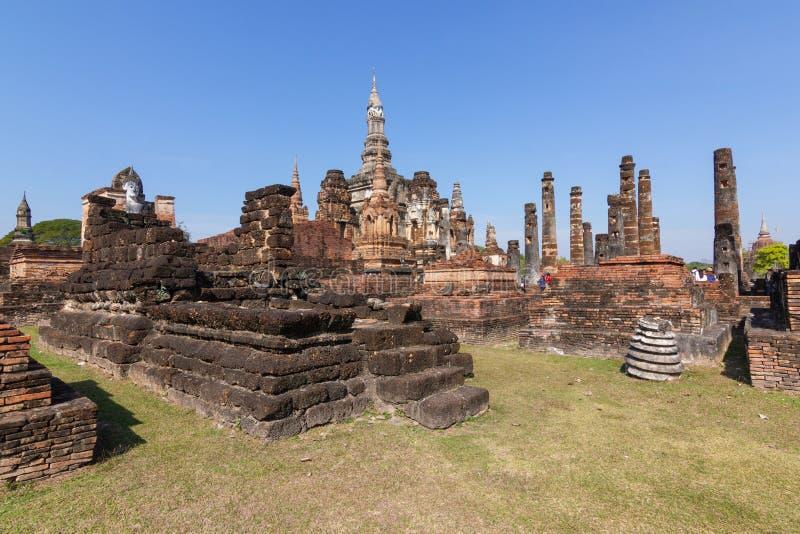 Sukhothai es un centro hist?rico, y la primera capital de Siam Thought a ser el origen del arte y de la cultura tailandeses imagen de archivo libre de regalías