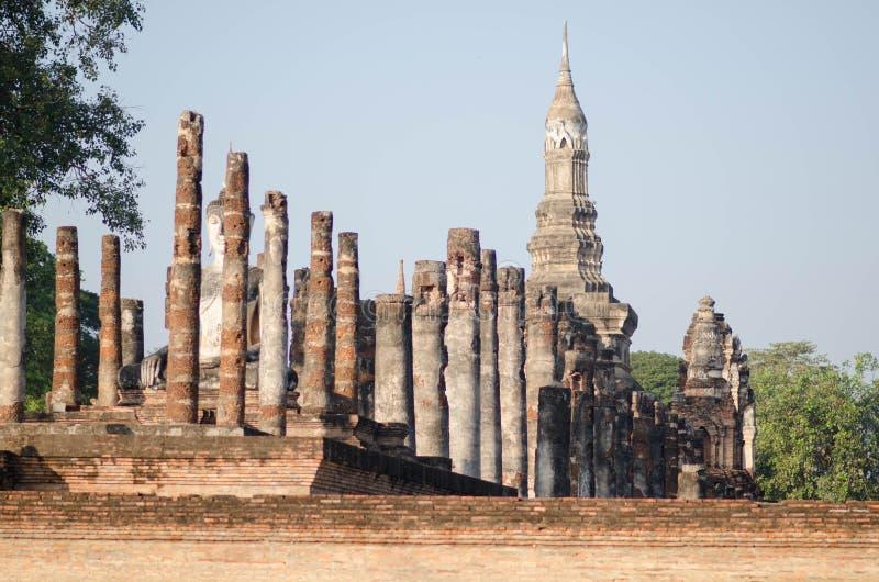 Sukhothai-Geschichtspark Es ` s ein Welterbe Ein des Bestimmungsortes in Thailand Es ` s eine alte Stadt herum 700 Jahre stockfotos