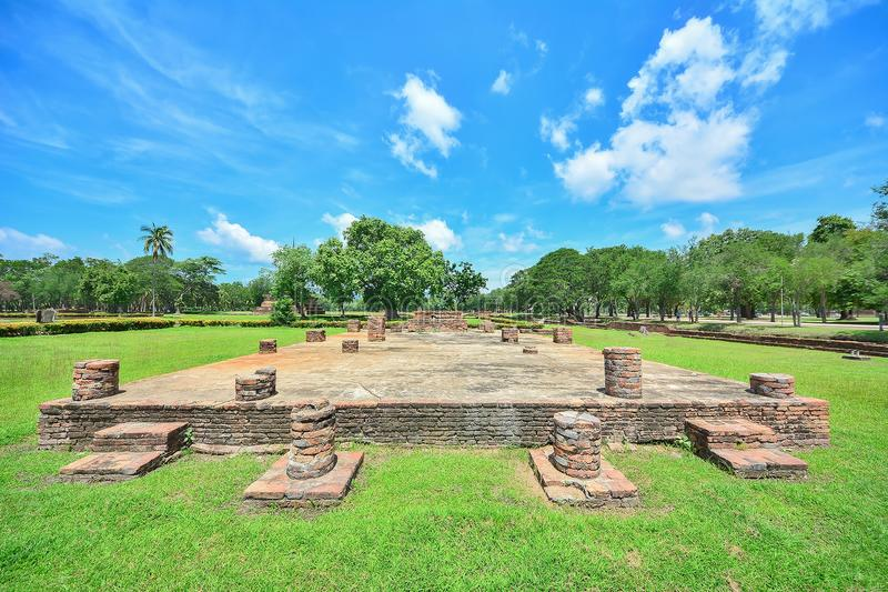 Sukhothai historical park, the old town of Thailand. Sukhothai historical park with blue sky , old town of Thailand royalty free stock photos