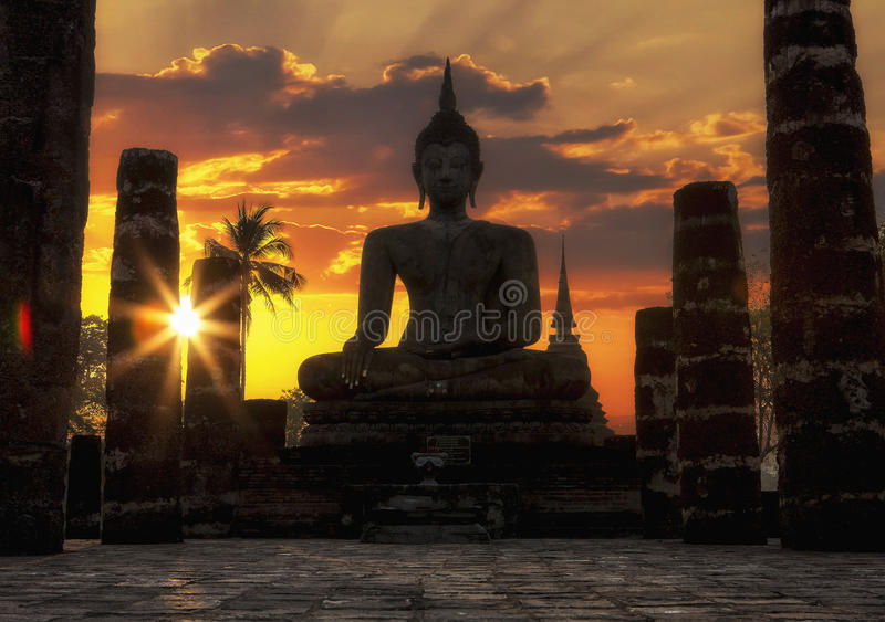 Sukhothai historical park. At Sukhothai province in Thailand stock photos