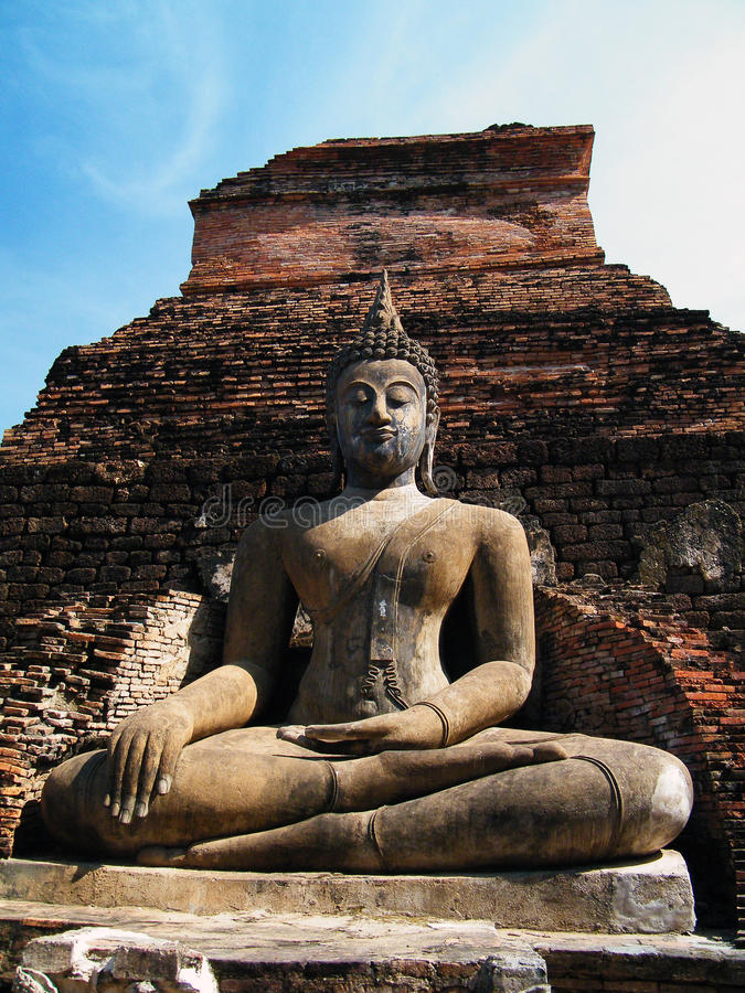 Sukhothai Historical Park, Thailand. The Sukhothai Historical Park covers the ruins of Sukhothai, capital of the Sukhothai kingdom in the 13th and 14th centuries royalty free stock image