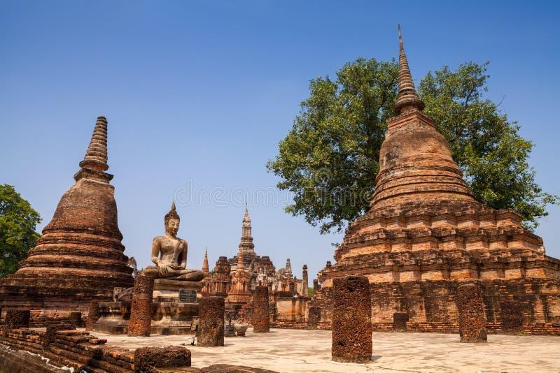 Sukhothai historischer Park Ruinen des buddhistischen Tempels in Sukhothai hallo stockfoto