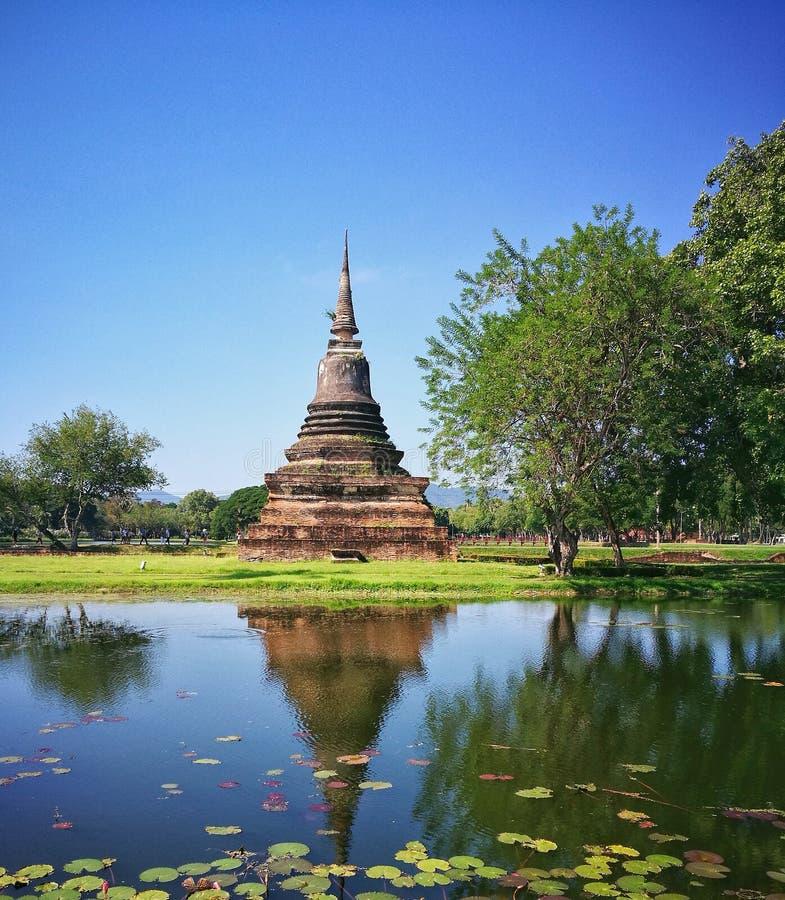 Sukhothai Nationaal Historisch Park, Sukhothai, Thailand royalty-vrije stock afbeeldingen
