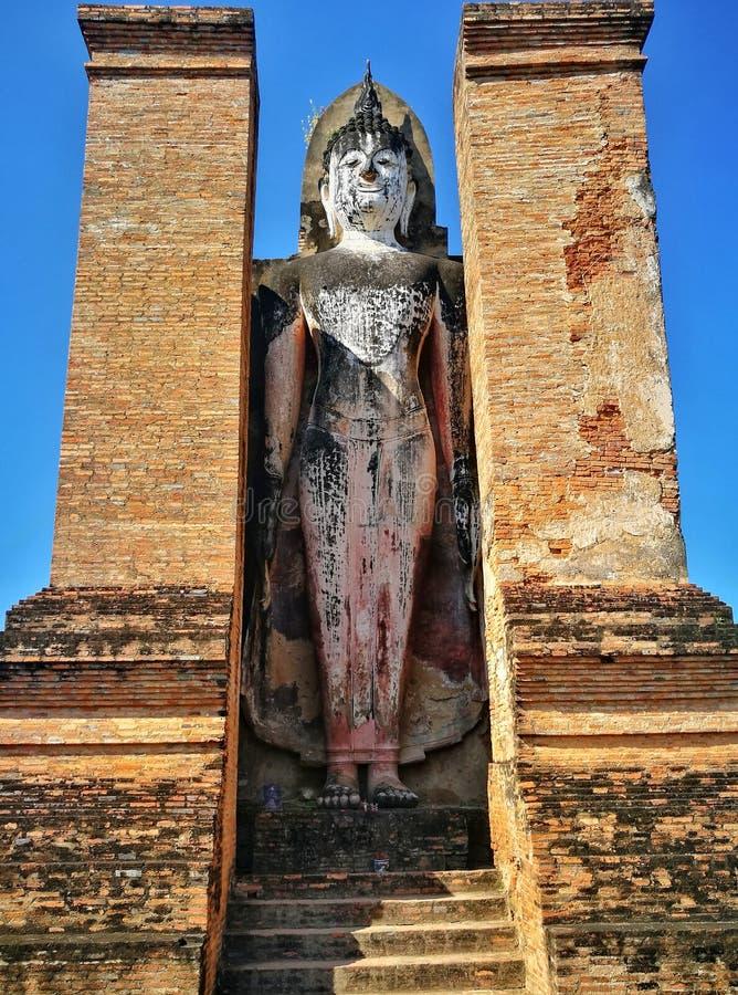 Sukhothai Nationaal Historisch Park, Sukhothai, Thailand stock afbeeldingen