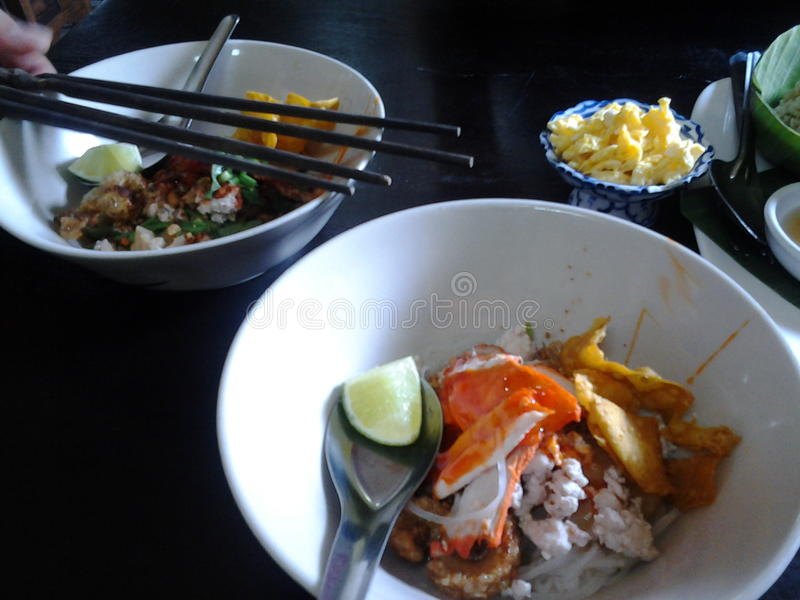 Sukhothai noodle. Or kuaytiaw Sukhothai royalty free stock images