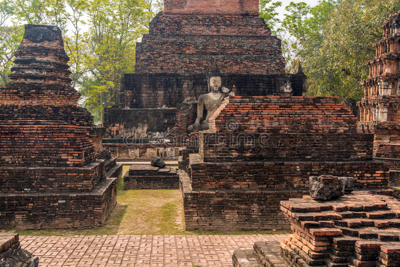 Sukhothai ruins stock photography