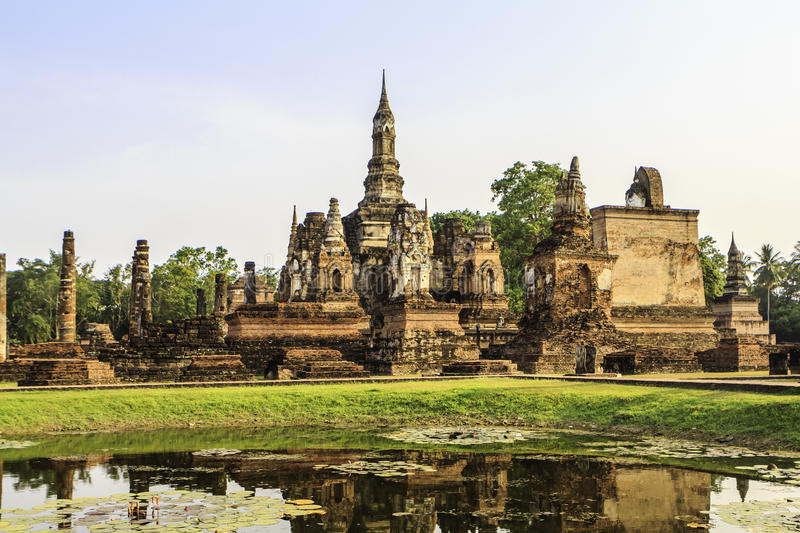 Sukhothai temple from thailand royalty free stock photos