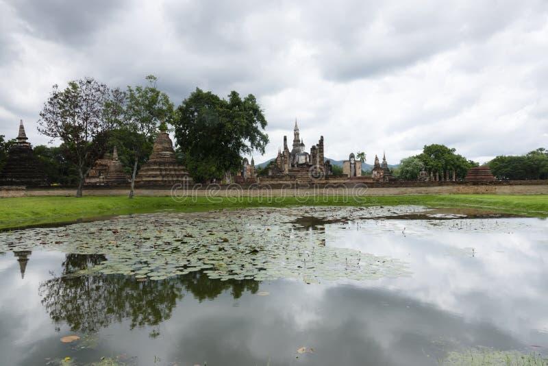 Sukhothai in Thailand. Historic park as landmark and travel destination stock photo