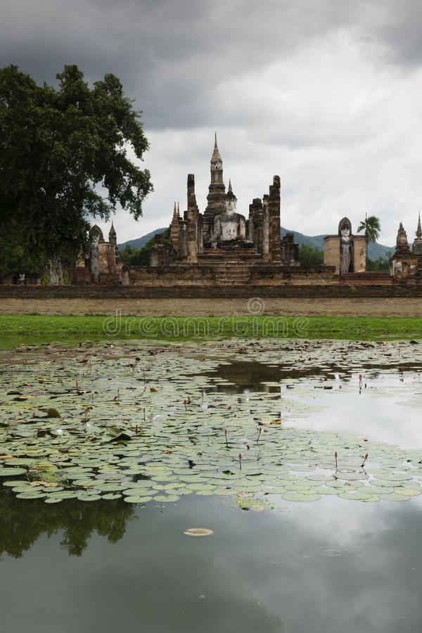 Sukhothai in Thailand. Historic park as landmark and travel destination stock image