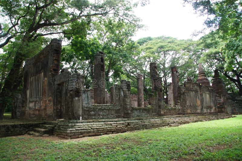 Visiting the old city of sukhothai, thailand. Sukhothai thailand historical park, unesco announces that this park is a world heritage site stock photo