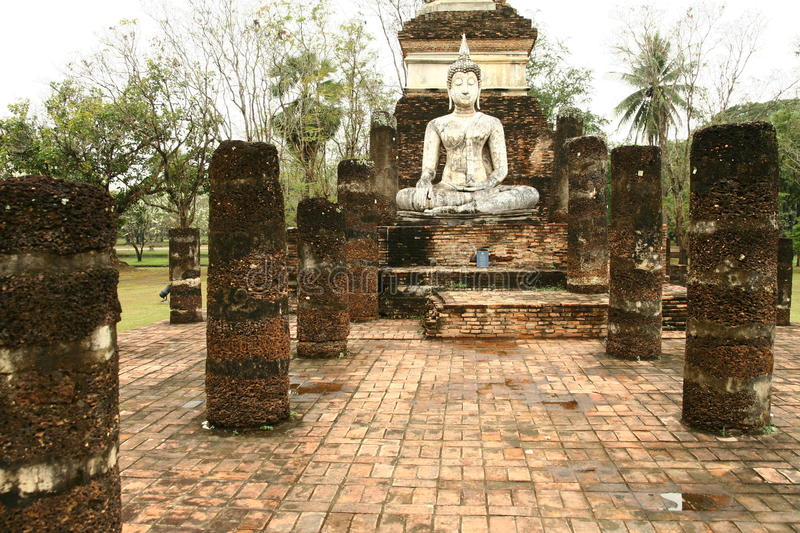 Sukhothai Thailand temples. In the jungle royalty free stock image