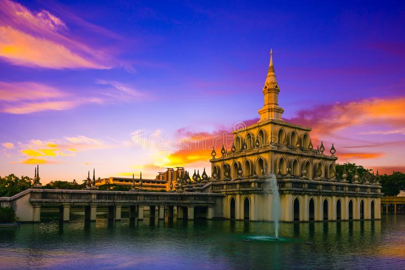 Sukhothai Thammathirat Open University in Nonthaburi, Thailand.  royalty free stock photography
