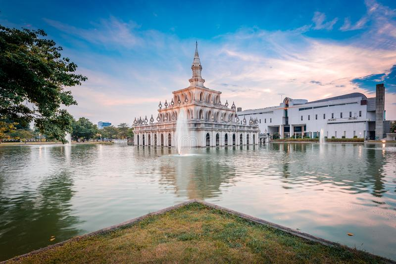 Sukhothai Thammathirat Open University in Nonthaburi, Thailand.  stock photography