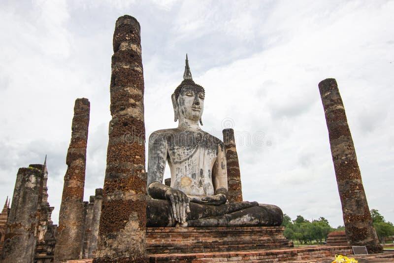 Sukhothai ? um centro hist?rico, e a primeira capital de Si?o imagens de stock