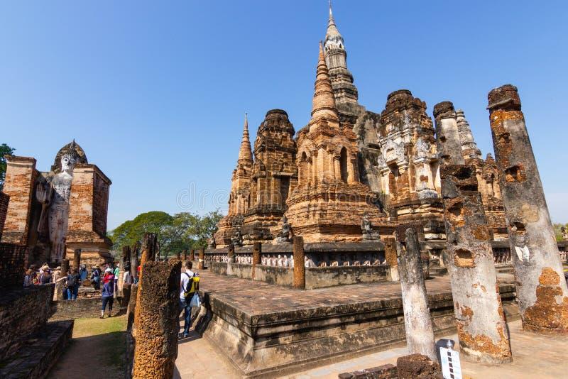 Sukhothai ? um centro hist?rico, e a primeira capital de Si?o fotografia de stock royalty free