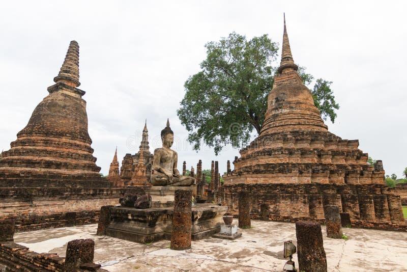 Sukhothai ? um centro hist?rico, e a primeira capital de Si?o fotos de stock royalty free