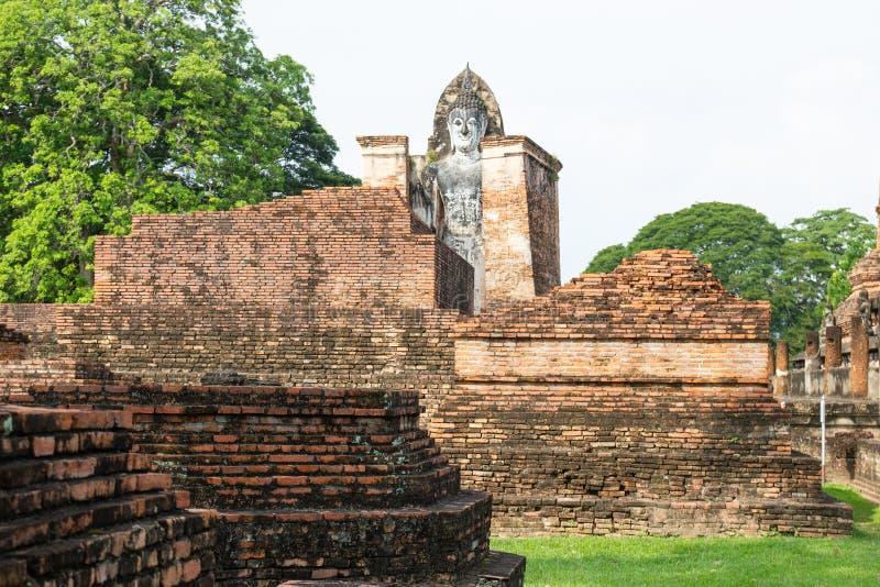 Sukhothai ? um centro hist?rico, e a primeira capital de Si?o fotografia de stock