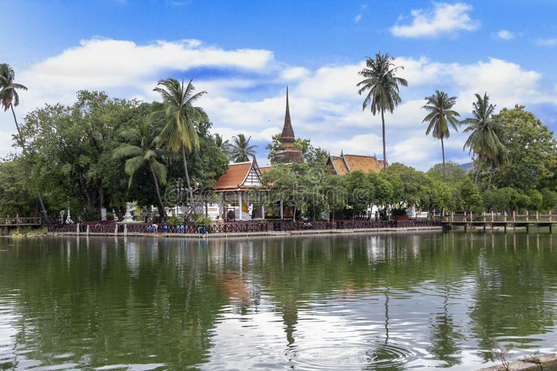 Sukhothai. Wat Traphang Thong, the temple of the golden pond. Old Sukhothai, Thailand stock photos