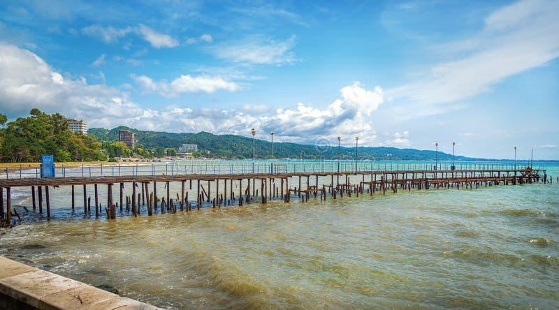 Sukhumi quay. Sukhum / Abkhazia - August 23, 2019 royalty free stock photos