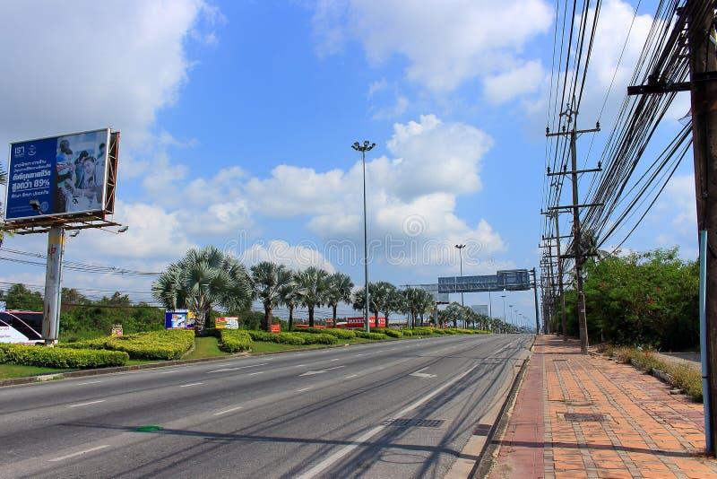 Sukhumvit väg, Thailand arkivfoton