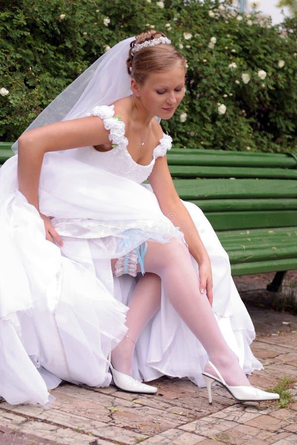 sukienka ślubna panny młodej white obraz stock