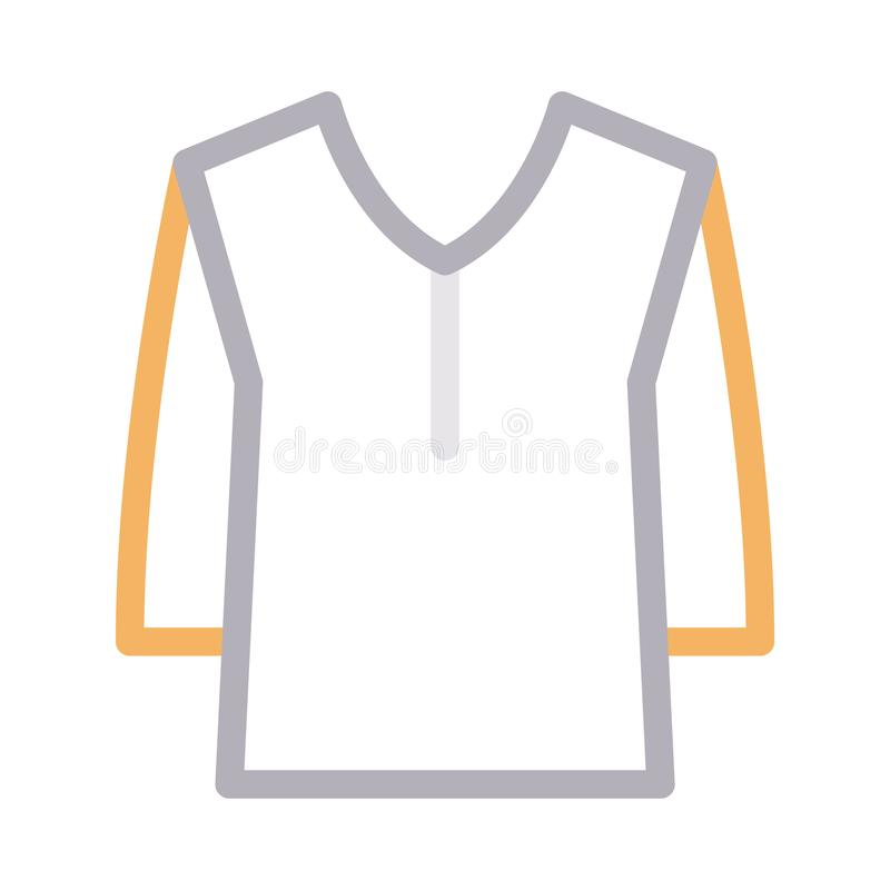 Sukienna colour linii wektoru ikona ilustracja wektor