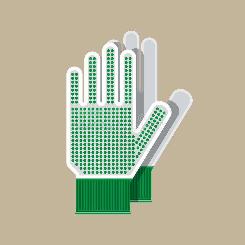 Sukienne rękawiczki Rękawiczki dla uprawiać ogródek i ogródu ilustracja wektor