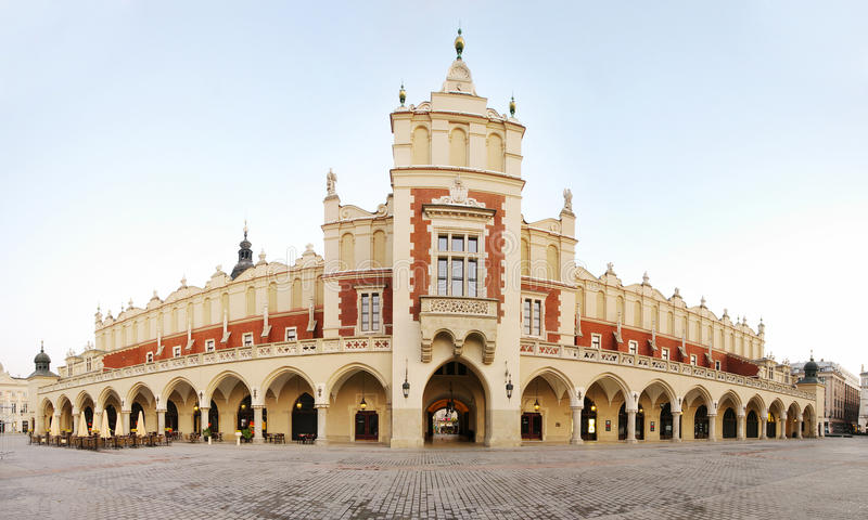 Sukiennice building in Krakow stock photo