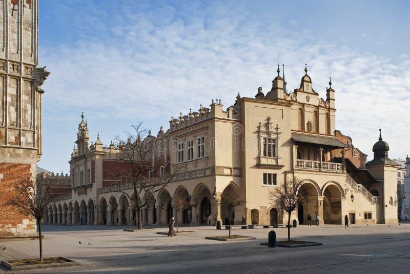 Sukiennice in Krakau, Polen royalty-vrije stock foto