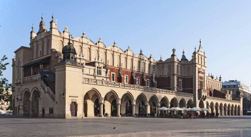 Sukiennice in Krakau, Polen royalty-vrije stock foto's