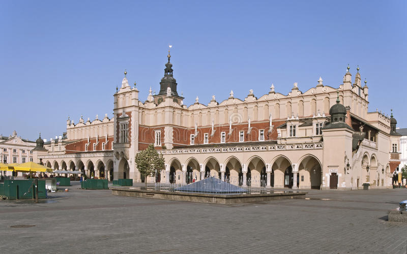 Sukiennice in Krakow, Poland royalty free stock photography