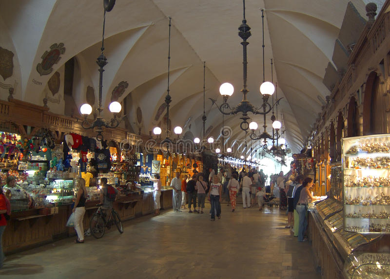 Sukiennice in Krakow, Poland stock image