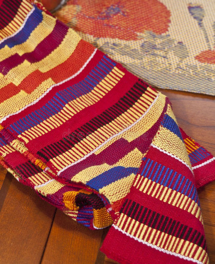 sukienny Africa kente Ghana dwa zdjęcia royalty free