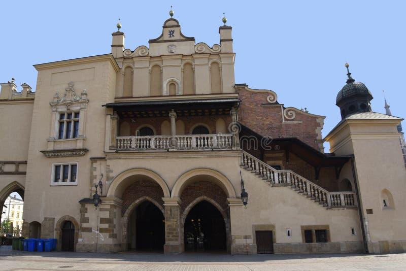 Sukienny Hall w Targowym kwadracie w Krakow Polska obrazy stock