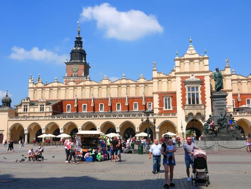 Sukienny Hall w Targowym kwadracie w Krakow Polska zdjęcie royalty free