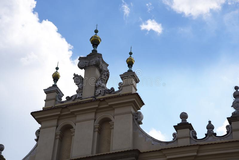Sukienny Hall w Targowym kwadracie w Krakow Polska r zdjęcie royalty free