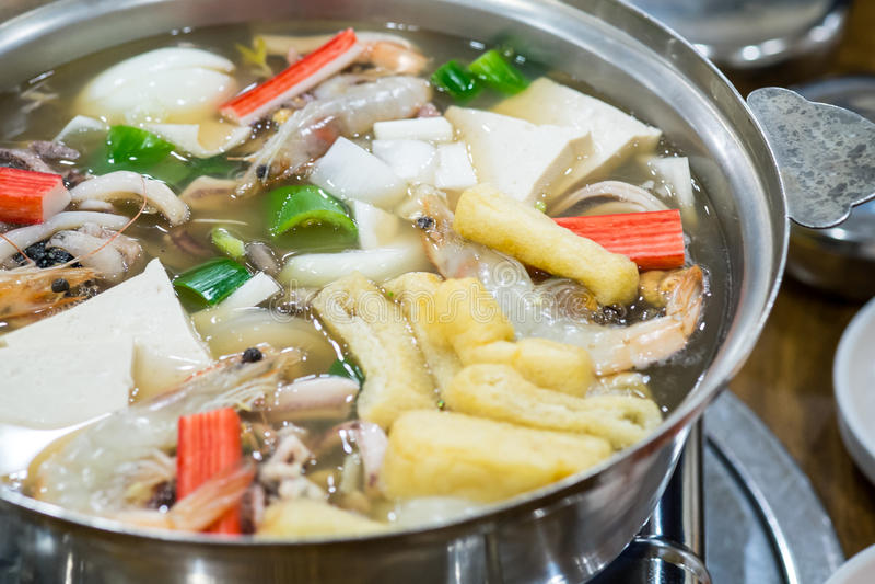 Sukiyaki coreano fotos de archivo