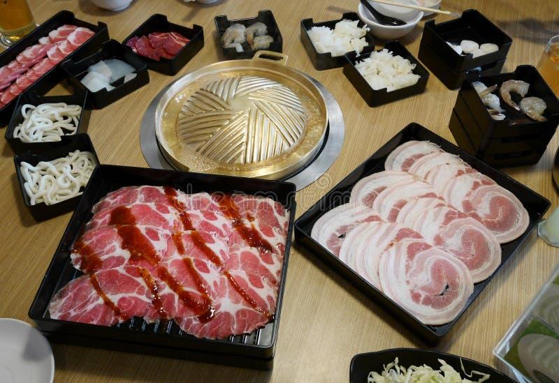 Sukiyaki Japanese menu set royalty free stock photos