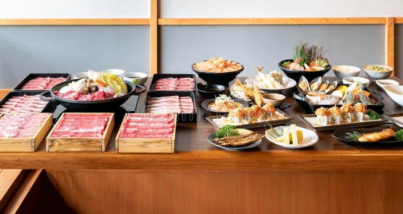 Sukiyaki japon?s e alimento imagens de stock