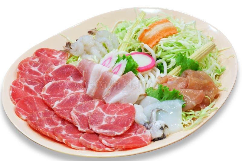 Sukiyaki uppsättning fotografering för bildbyråer