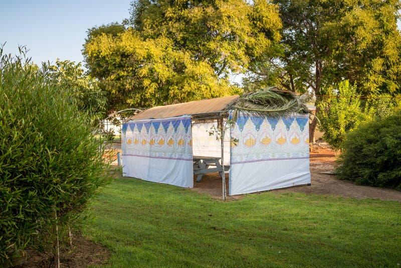 sukkah -住棚节犹太节日的临时小屋  是 图库摄影