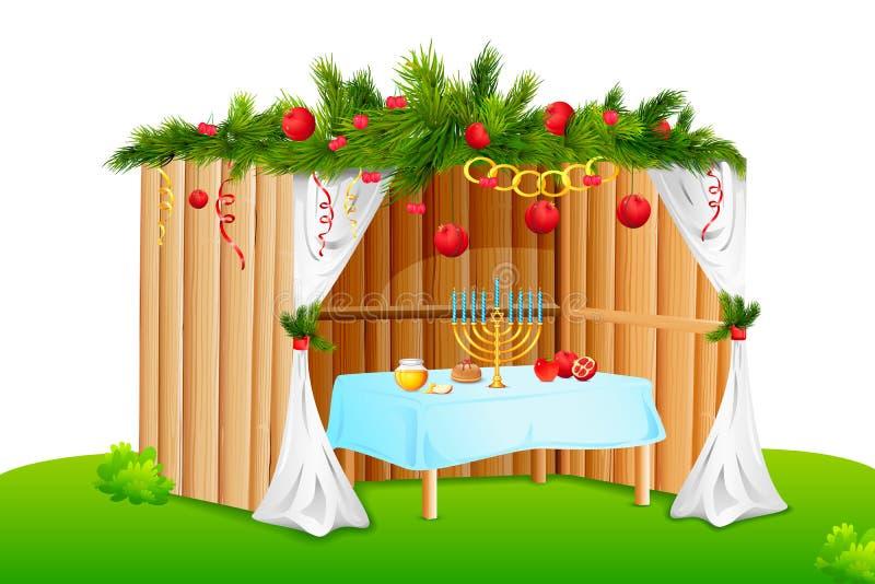Sukkah decorado ilustração stock