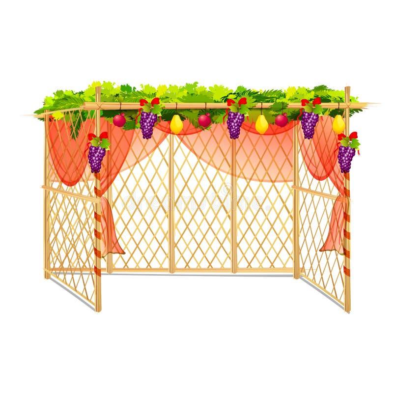 Sukkah para comemorar Sukkot ilustração royalty free