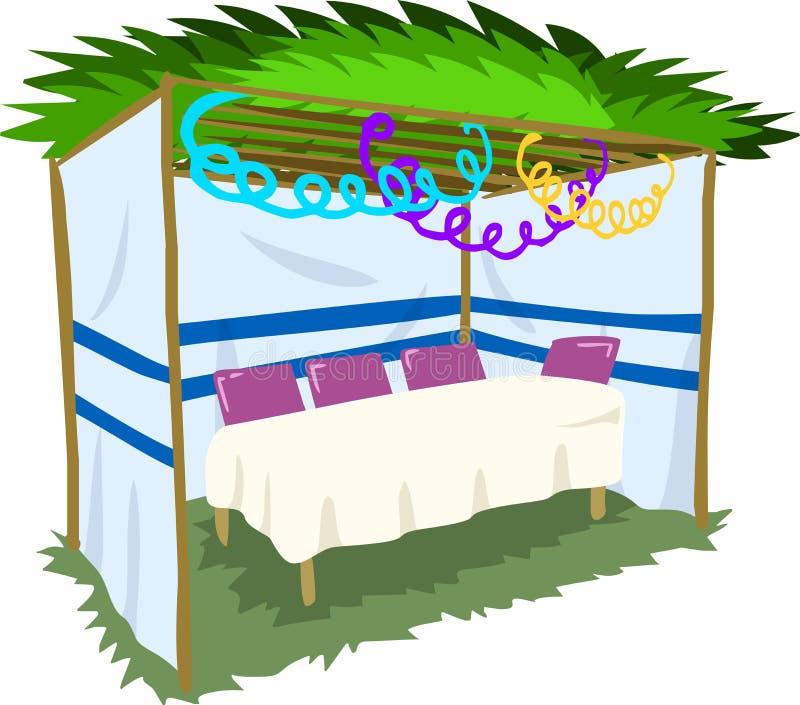 Sukkah voor Sukkot met Lijst 2 vector illustratie