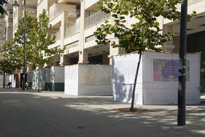 Sukkas in Jeruzalem stock fotografie