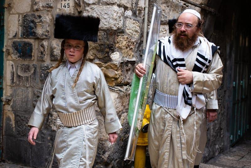 Sukkot wakacje w Jerozolima fotografia stock