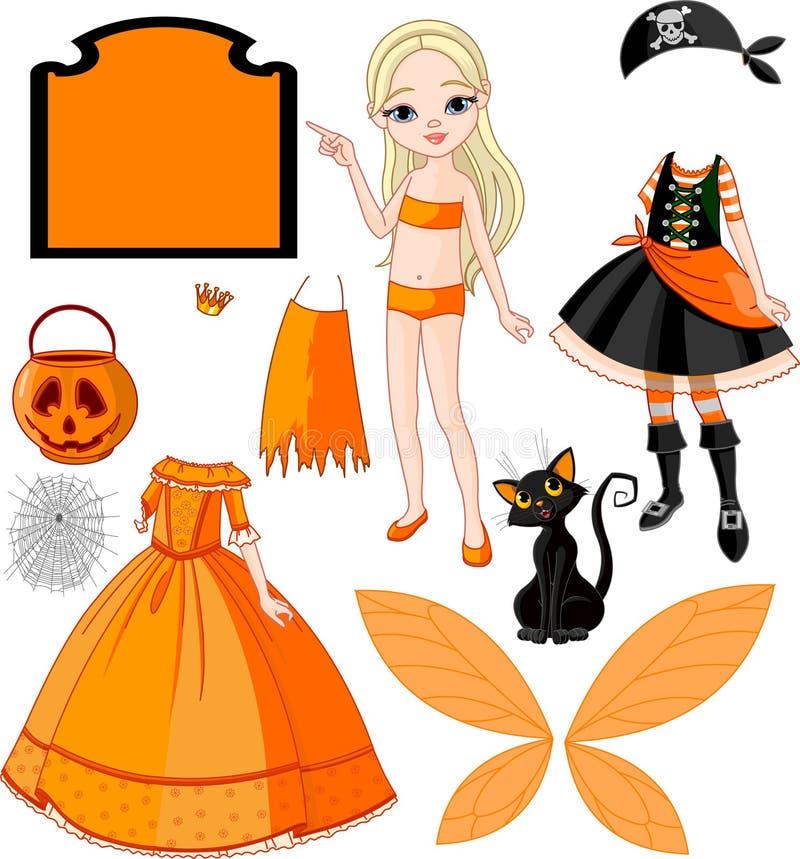 sukni dziewczyny Halloween przyjęcie ilustracji