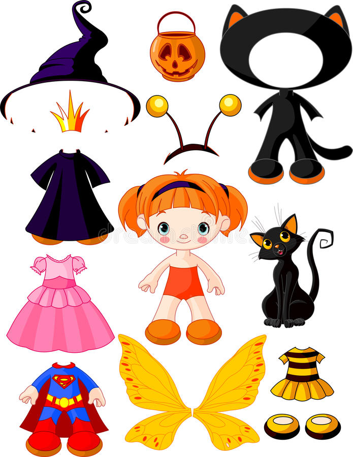 sukni dziewczyny Halloween przyjęcie royalty ilustracja