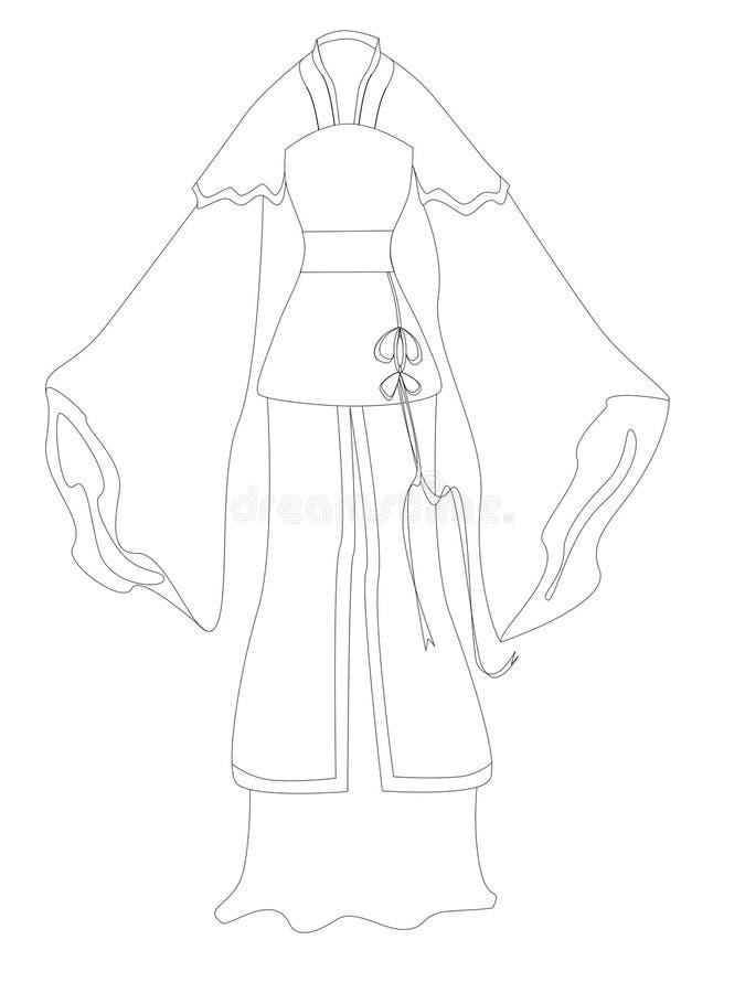 suknia ilustracja wektor